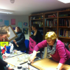 Making placards for Reclaim The Night March